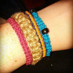 Homemade hemp bracelets
