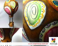 Balão com a cor original da cabaça