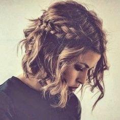 Fácil trenzado ondulado peinado bob
