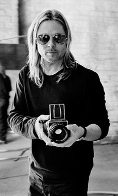 Brad Pitt and a Hasselblad
