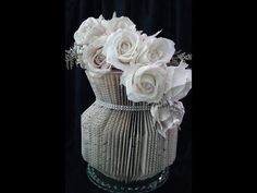 (30) Book folding VASE. The most popular VASE only 30 min to make the vase. - YouTube