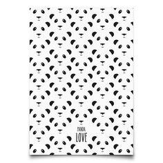 Carte postale Panda par Eef Lillemor à retrouver dans la boutique La Rose Pourpre - papeterie - Panda love postcard - Online Shop -Paiement sécurisé et retour facile !