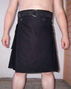How to make a men's cargo kilt  http://www.instructables.com/id/How-to-make-a-Cargo-Kilt/?ALLSTEPS#
