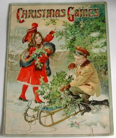 1913 Christmas Games BookSt. Nicholas Series by hollyhockscottage, $125.00