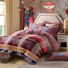 Travel Purple Teen Bedding College Dorm Bedding Kids Bedding