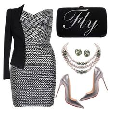 """""""FLY"""" by rasaj ❤ liked on Polyvore featuring WithChic, Christian Louboutin, DaVonna, Sergio Rossi, Liviana Conti, women's clothing, women's fashion, women, female and woman"""