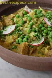 Yogurt Lamb and Pea Tagine