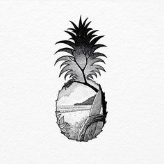 Image result for pineapple outline tattoo