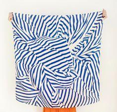 Stripe Furoshiki Navy. Furoshiki Japanese multi wrapping cloth and scarf.. $48.00, via Etsy.