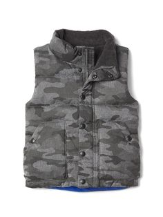 Gap Baby Quilted Fleece-Lined Vest Heather Grey