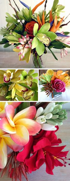 DECO Tropical flowers