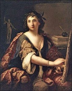 1638 Elisabetta Sirani (Italian Baroque painter, 1638-1665) Self-Portrait 1658