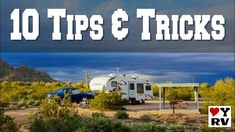 In this video, I share a collection of 10 more little RVing tips and tricks I've gathered over the last couple of years. See more RV tips in the Love Your RV. Rv Camping Tips, Outdoor Camping, Rv Tips, Camping Essentials, Hard Water Spots, External Lighting, Vinegar And Water, Tank I, Fresh Water Tank