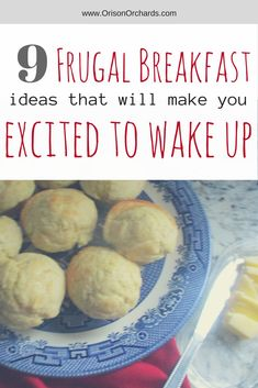 Is breakfast difficult at your house? I feel ya! Good thing I have lots of quick, easy, filling and nutritious breakfast ideas up my sleeve, and each of them is far cheaper than cold cereal. Frugal Meals, Cheap Meals, Budget Meals, Easy Meals, Frugal Recipes, Cheap Recipes, Breakfast Ideas, Breakfast Recipes, Homemade Muffins