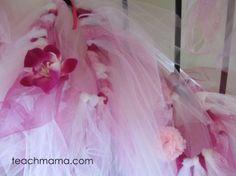 A tutu for everyone - DIY no sew fairy skirts.