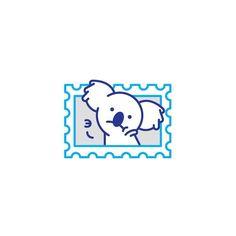 Э.. Koala Nomnom #stolzdesign #stolzsticker #koala #webarebears #nomnom #pokerface #vector #dribble by dmitrystolz