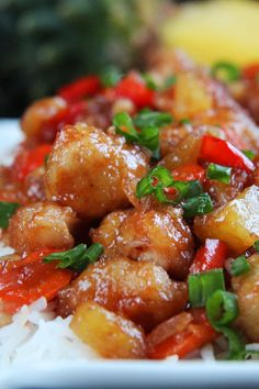 Baked Sweet and Sour Chicken, Pineapple ,Carrots and Bell Peppers
