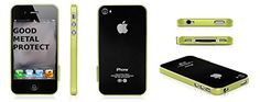 Metal Ultra Slim Aluminium Bumper Hard Case Cover Protector For iPhone 4 & 4S - Green FoxyCase http://www.amazon.ca/dp/B00KXS6RZQ/ref=cm_sw_r_pi_dp_.8pXtb12MESCMBPN