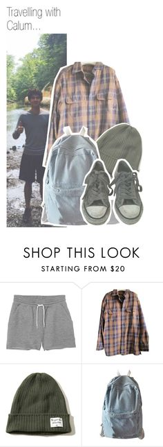 """Travelling with Calum..."" by nika-brel ❤ liked on Polyvore featuring Monki, Timberland, Hollister Co., WithChic, AllSaints, calumhood, 5secondsofsummer and 577"