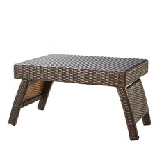 RST Outdoor Espresso Rattan Lounger Side Table,, Patio Furniture