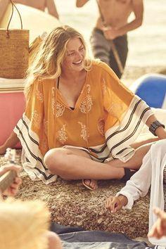Sunglow Pullover Chiffon Caftan