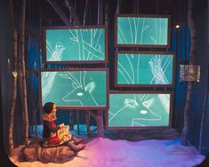 Chalkboards make great props in window displays with mannequins. This is from Saks Holiday window 2012