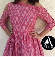 Different types of frock neck designs - ArtsyCraftsyDad Salwar Designs, Kurta Designs Women, Kurti Designs Party Wear, Lehenga Designs, Kalamkari Dresses, Ikkat Dresses, Maxi Dresses, Party Dresses, Dress Neck Designs