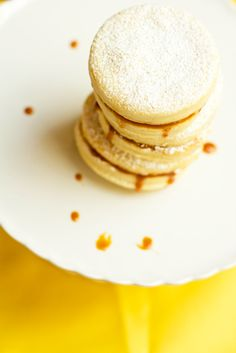 Alfajores - Shortbread sandwich cookies with dulce de leche in the middle.