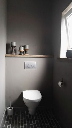 Our half bathroom ideas refer to dual sub-concepts that wrap one bathroom. This can lead to a unique look that makes the area outstanding. Read Gorgeous Half Bathroom Ideas 2020 (For Unique Bathroom) Small Toilet Room, Guest Toilet, Bad Inspiration, Bathroom Inspiration, Modern Bathroom, Small Bathroom, Bathroom Ideas, Bathroom Gray, Bathroom Crafts