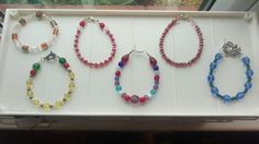 A selection of beaded bracelets made as gifts for Christmas.