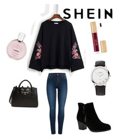 """Untitled #12"" by ana-hanc on Polyvore featuring Pieces, Skechers, Charlotte Olympia, Links of London, Chanel and shein"