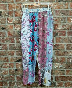 SACRED THREADS Patchwork LAGENLOOK Mult-Colored Trendy Hippie Bohemian Pants | Clothing, Shoes & Accessories, Women's Clothing, Pants | eBay!