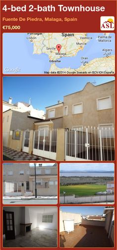 4-bed 2-bath Townhouse in Fuente De Piedra, Malaga, Spain ►€75,000 #PropertyForSaleInSpain
