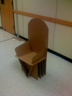 Art Project   Cardboard Chair   Full Size Final | Flickr   Photo Sharing!