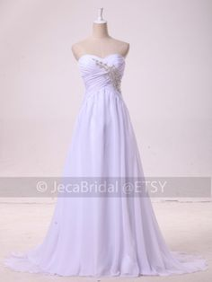 Simple Summer Wedding Dress Beach Casual Wedding by JecaBridal, $219.95
