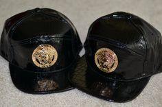 Black Python Patent Leather Versace Medusa head  5 by LatestTrendz, $39.00
