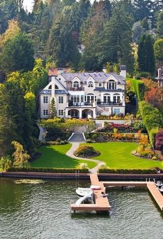 Lake House, Seattle, Washington - seriously? I live in Seattle and my house does not look like this. ha ha.