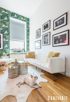 A chic Small Spaces home makeover with NYC style influencer @weworewhat. Click for a full tour on zgallerie.com