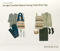 Stitch Fix February 2016 Loveappella Arriga Crochet Sleeve Swing Tank Knit Top