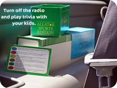 A rousing game of Trivia while traveling in the car.