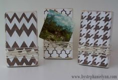 Make Your Own Wood Block Photo Frames / Note Holders {Simple Picture Displays}