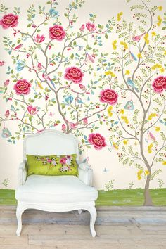 PiP Morning Glory White wallpaper