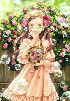 Super Ideas For Anime Fantasy Art Girls Hair Kawaii Anime Girl, Pretty Anime Girl, Beautiful Anime Girl, Anime Art Girl, Manga Girl, Anime Girls, Kawaii Pig, Anime Fantasy, Fantasy Art
