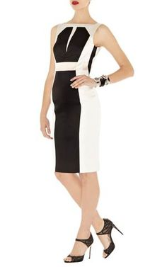 karen millen karen millen broderie dress2013-Karen Millen DP300 Black Signature Stretch Satin Dress :