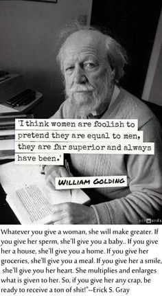 woman quotes: william golding foolish