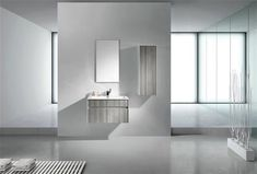 Fitto 32 in. Ash Gray Wall Mount Modern Bathroom Vanity This floating wall-mounted bathroom vanity features one spacious drawer for storing bathroom essentials. The clean, contemporary lines are enhanced by a crisp white integrated slim trough sink. Contemporary Bathroom Sink Faucets, Floating Bathroom Vanities, Modern Bathroom, Single Sink Bathroom Vanity, Vanity Sink, Composite Sinks, Ash Grey, Gray, Modern Bathrooms