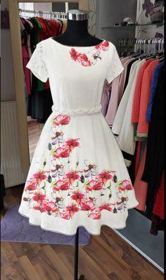 Rochie pictata ''Summer time I'' (200 LEI la PushDesign.breslo.ro) Lei, Dresses, Design, Fashion, Vestidos, Moda, Fashion Styles, Dress