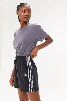 Shop adidas Originals X Daniëlle Cathari Satin Short at Urban Outfitters today. We carry all the latest styles, colors and brands for you to choose from right here. Sporty Summer Outfits, Cute Lazy Outfits, Lounge Outfit, Lounge Wear, Lounge Clothes, Comfy Clothes, Pants For Women, Clothes For Women, Adidas Shorts
