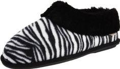 smartdogs Women's Wild Bootie Slipper,Black Zebra,Large(8.5-9) smartdogs. $47.95