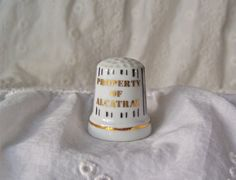 Vintage Alcatraz Porcelain Thimble Jail Bars by cynthiasattic, $15.00